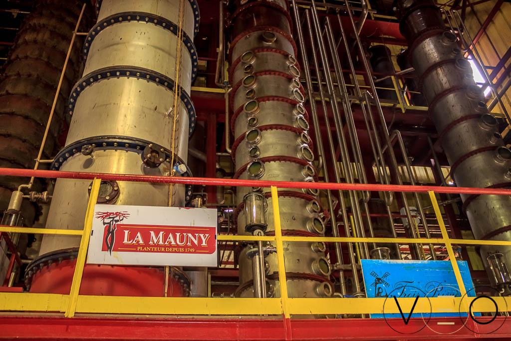 Colonner à distiller, production de rhum Martinique, Habitation la Mauny