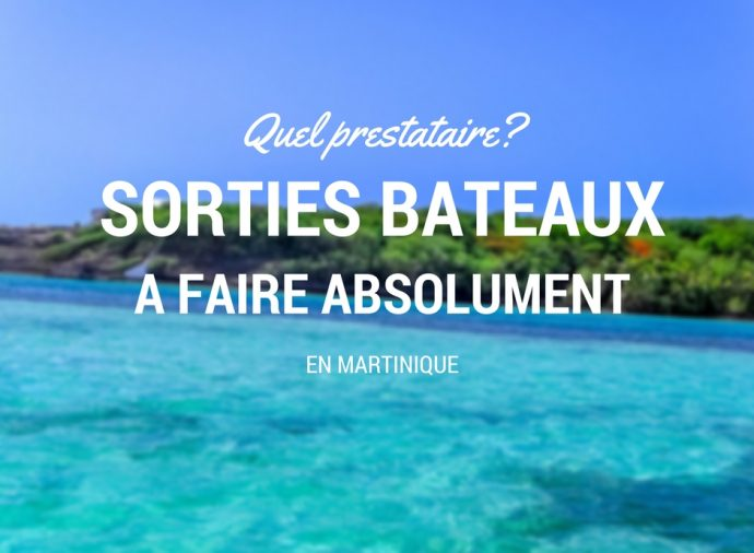 Excursion Martinique : sortie bateau