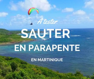 Sauter en parapente en Martinique