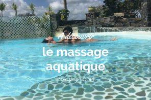 Massage aquatique en Guadeloupe avec Créole Trip.