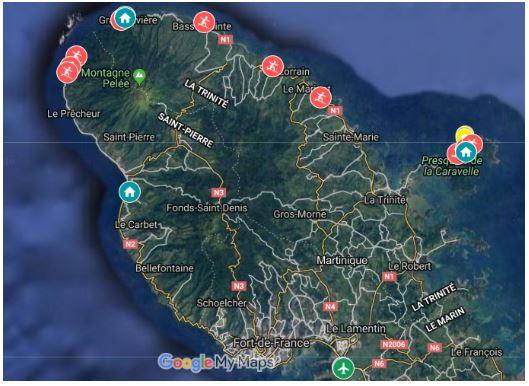 Spots Martinique surf